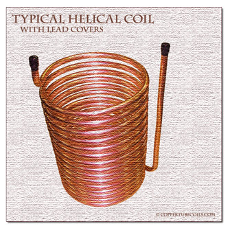 copper helical coil with lead covers   ©coppertubecoils.com